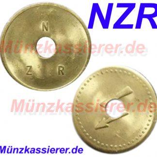 10 x Münzen Wertmarken Jetons Ø 26 x 1,6 - Loch Ø 6mm. Münzkassierer