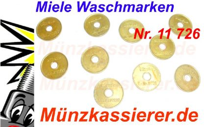 10 x Orig. MIELE 11726 WERTMARKEN Münzkassierer