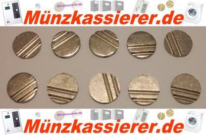 10 x Wertmarken Ø 24 x 3,2 mm. Rillen Profiliert Münzkassierer