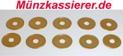 10 x Wertmarken Jetons Token Duschmarken Wh Münzprüfer Ø 21 x 2,2mm (1)