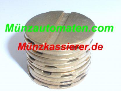 10 x Münzen Wertmarken PD27 WM27 Ø 27 x 2mm. 1 & 2 Rillen