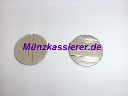 10 x Münzen Wertmarken PD25 WM25 Ø 25 x 2mm. 1 u. 2 Rillen